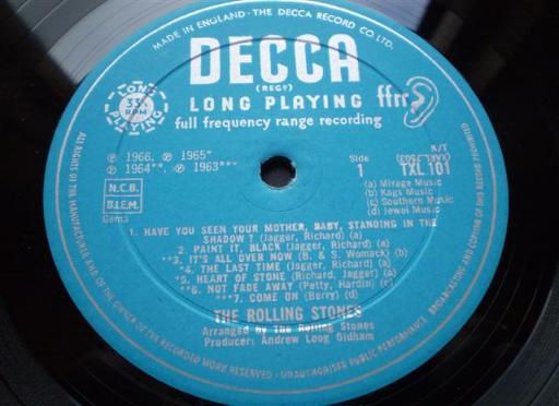 Rolling Stones High Tide Green Grass Record Vinyl 1st Uk